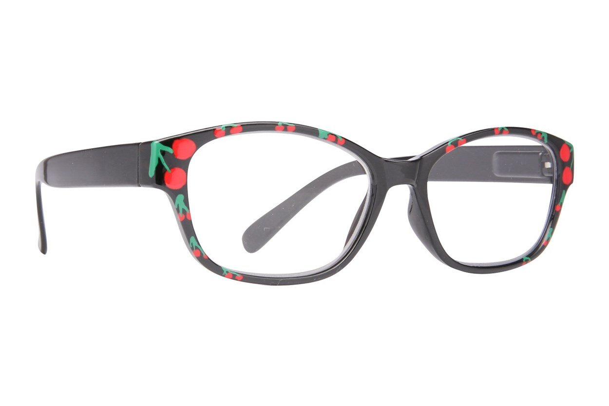 Evolutioneyes Handpainted Cherry Reading Glasses Black ReadingGlasses