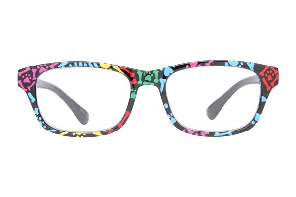 Evolutioneyes Handpainted Dog Bones Reading Glasses ReadingGlasses - Black