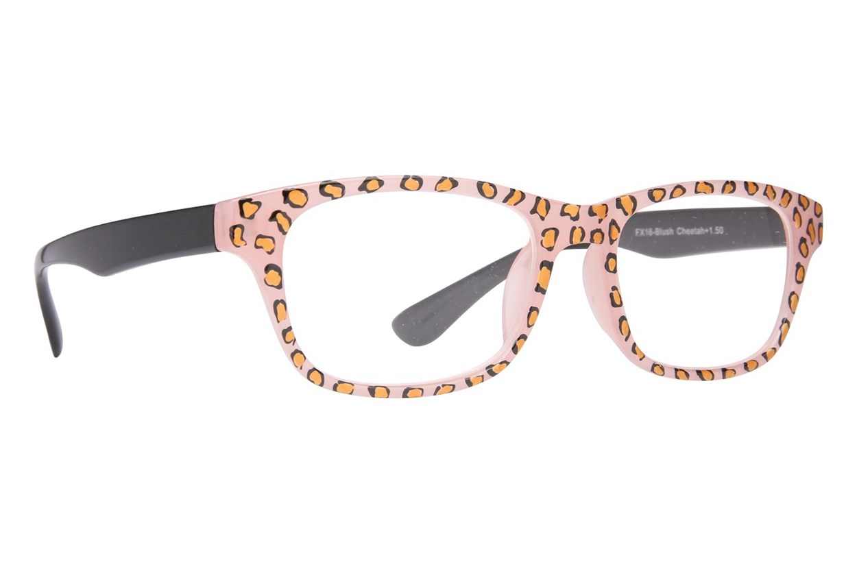 Evolutioneyes Handpainted Blush Cheetah Reading Glasses Tan