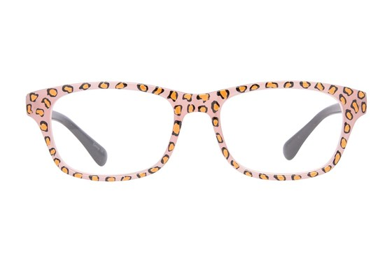 Evolutioneyes Handpainted Blush Cheetah Reading Glasses Tan