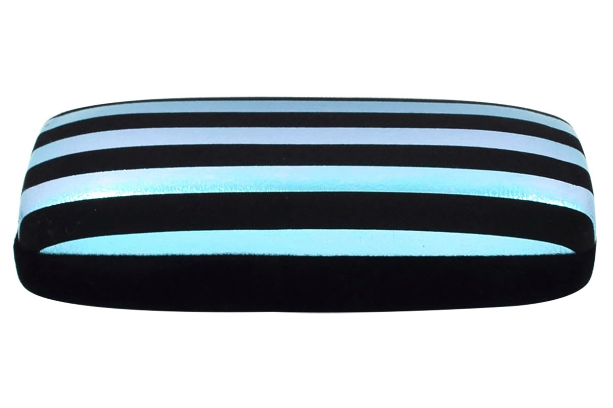 Evolutioneyes Velvet Stripe Eyeglass Case Black 50