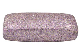 Evolutioneyes Mega Glitter Eyeglass Case Pink