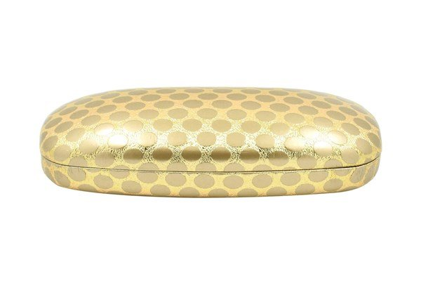 Evolutioneyes Polka-Dot Eyeglass Case Gold 50