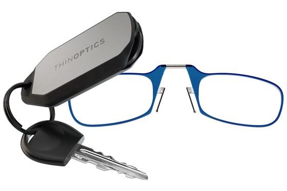 ThinOPTICS Keychain Case & Readers Blue
