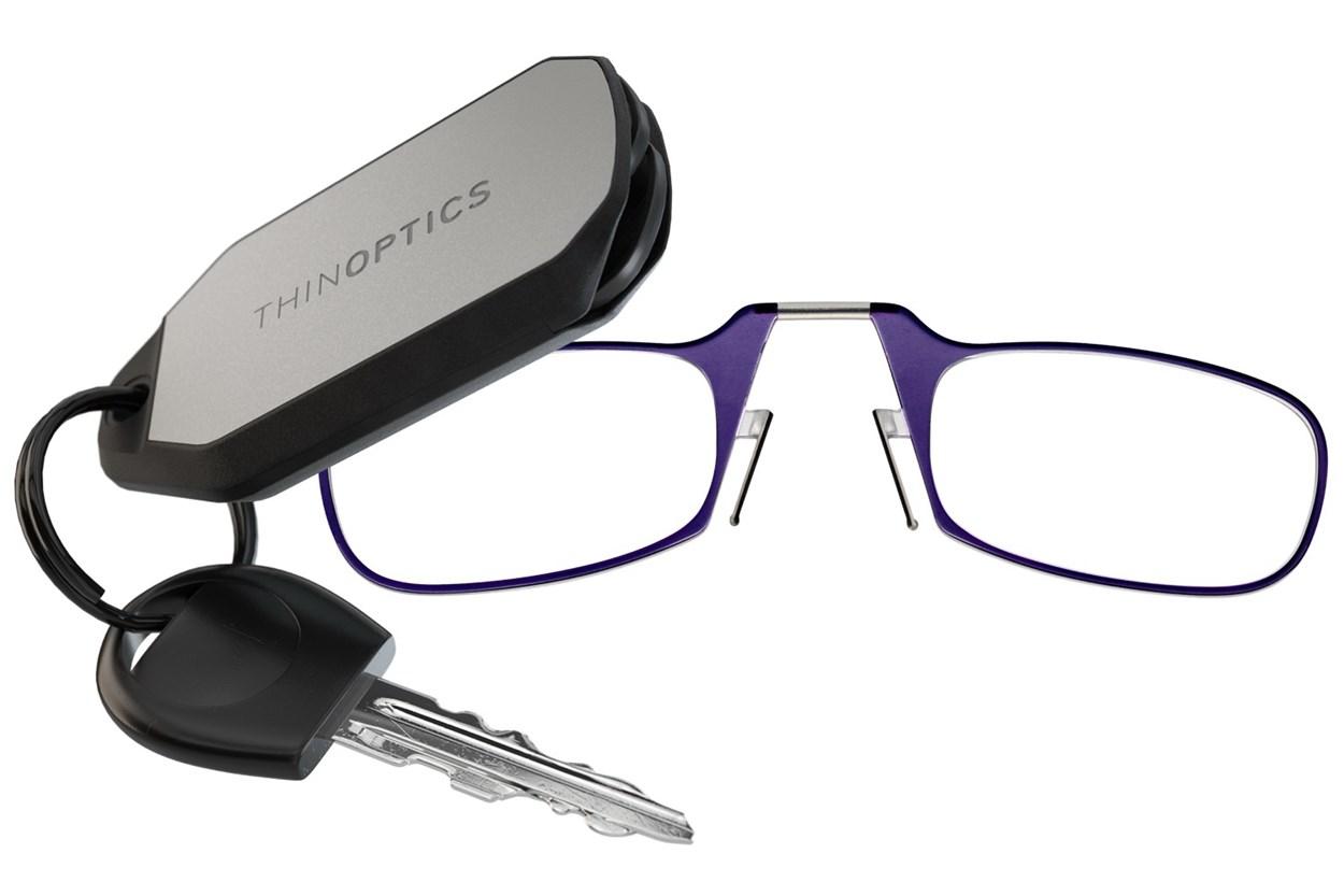 ThinOPTICS Keychain Case & Readers Purple