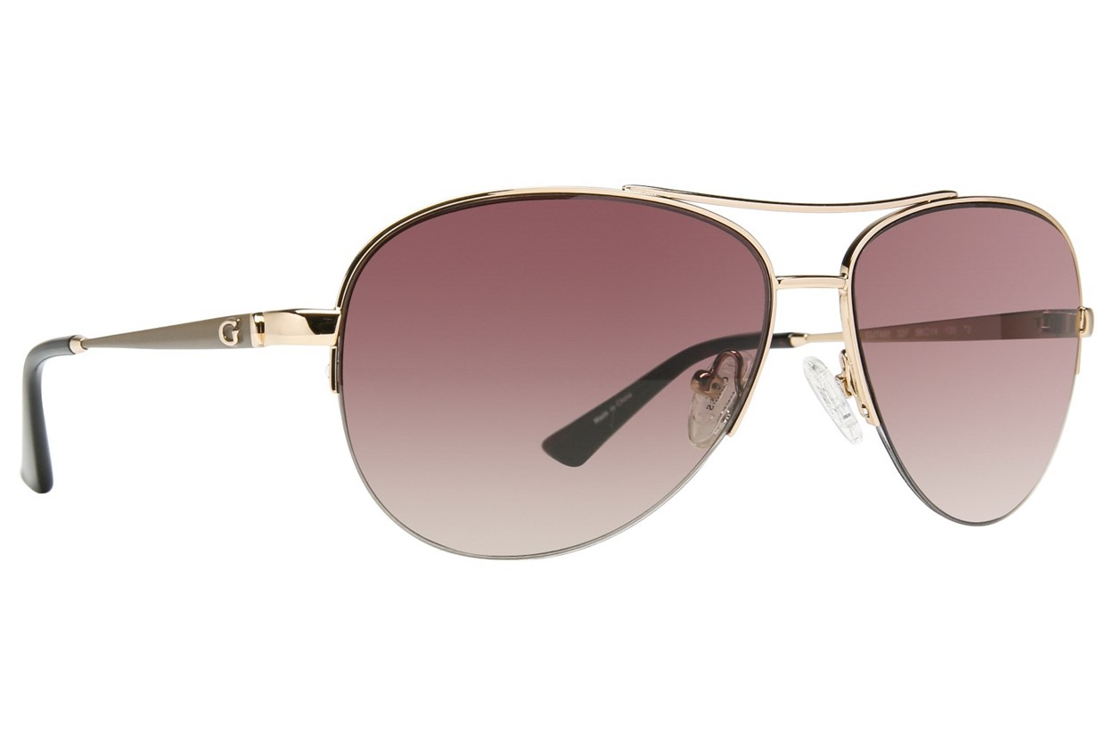 GUESS GU 7468 Gold Sunglasses