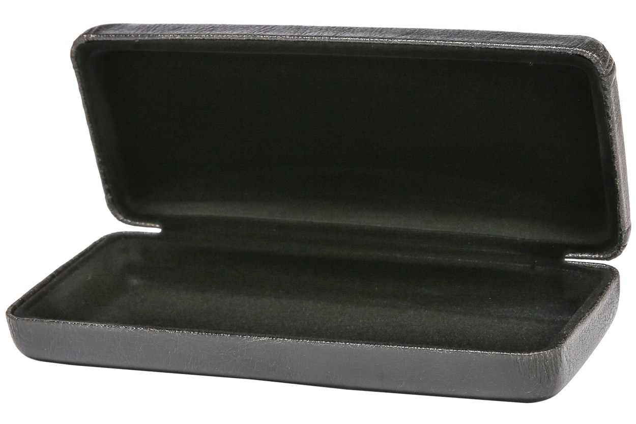 Alternate Image 1 - Amcon Executive Clamshell Case Black GlassesCases