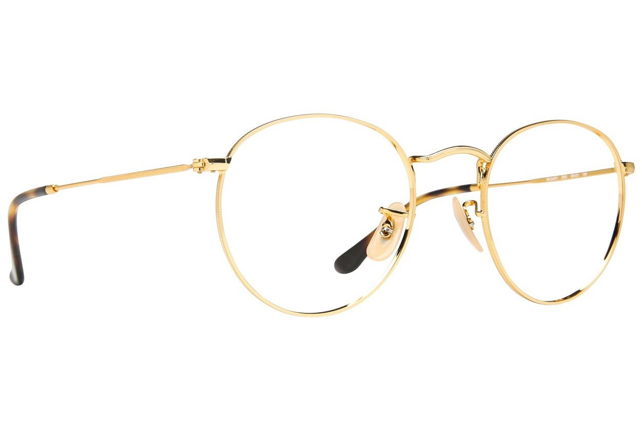 Ray-Ban® RX3447V Gold Eyeglasses
