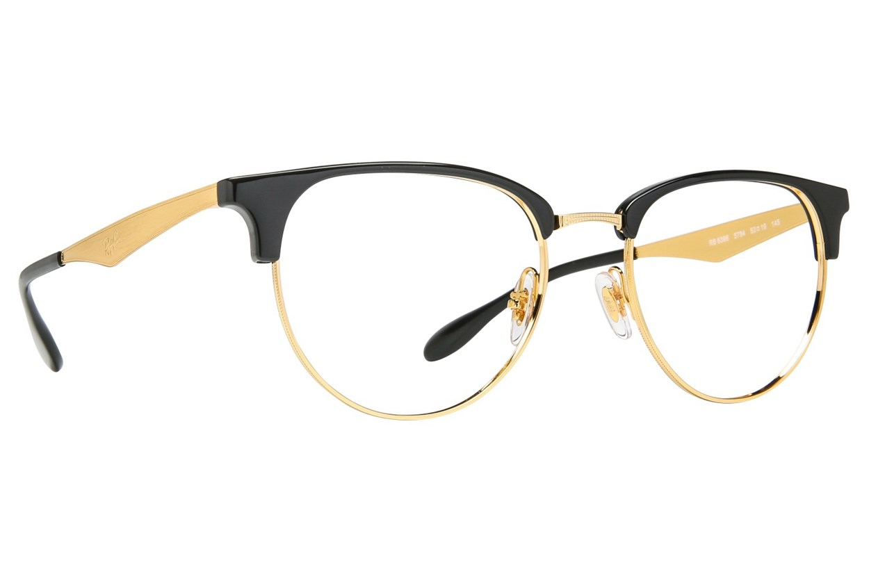 Ray-Ban® RX6396 Black Eyeglasses