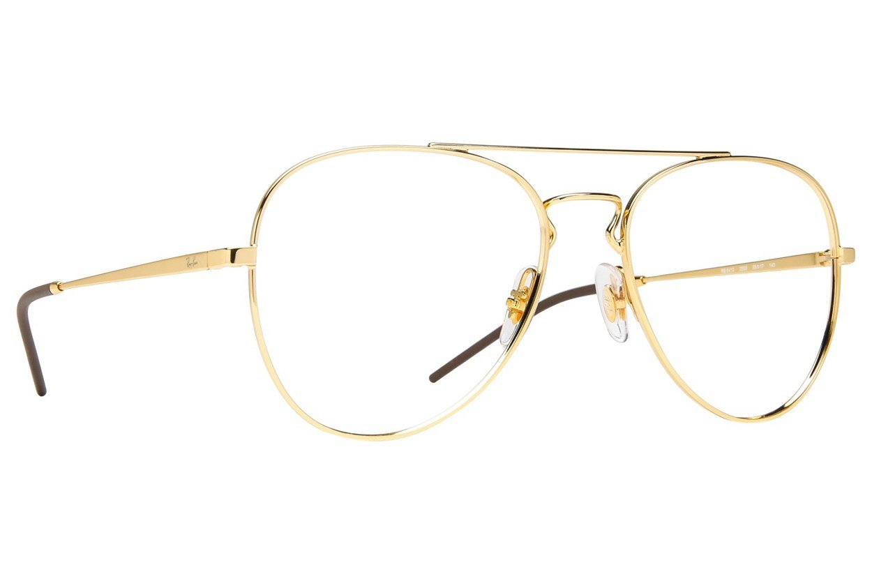 Ray-Ban® RX6413 Gold Eyeglasses