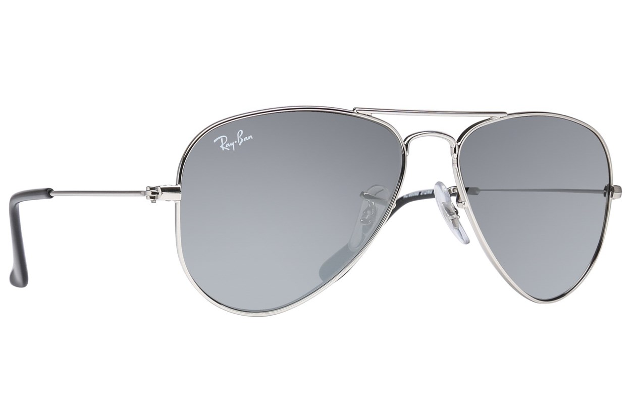 Ray-Ban® Youth RJ9506S Aviator Junior Mirror Silver Sunglasses