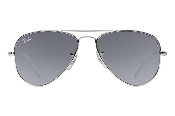 Ray-Ban® Youth RJ9506S Aviator Junior Mirror Sunglasses - Silver