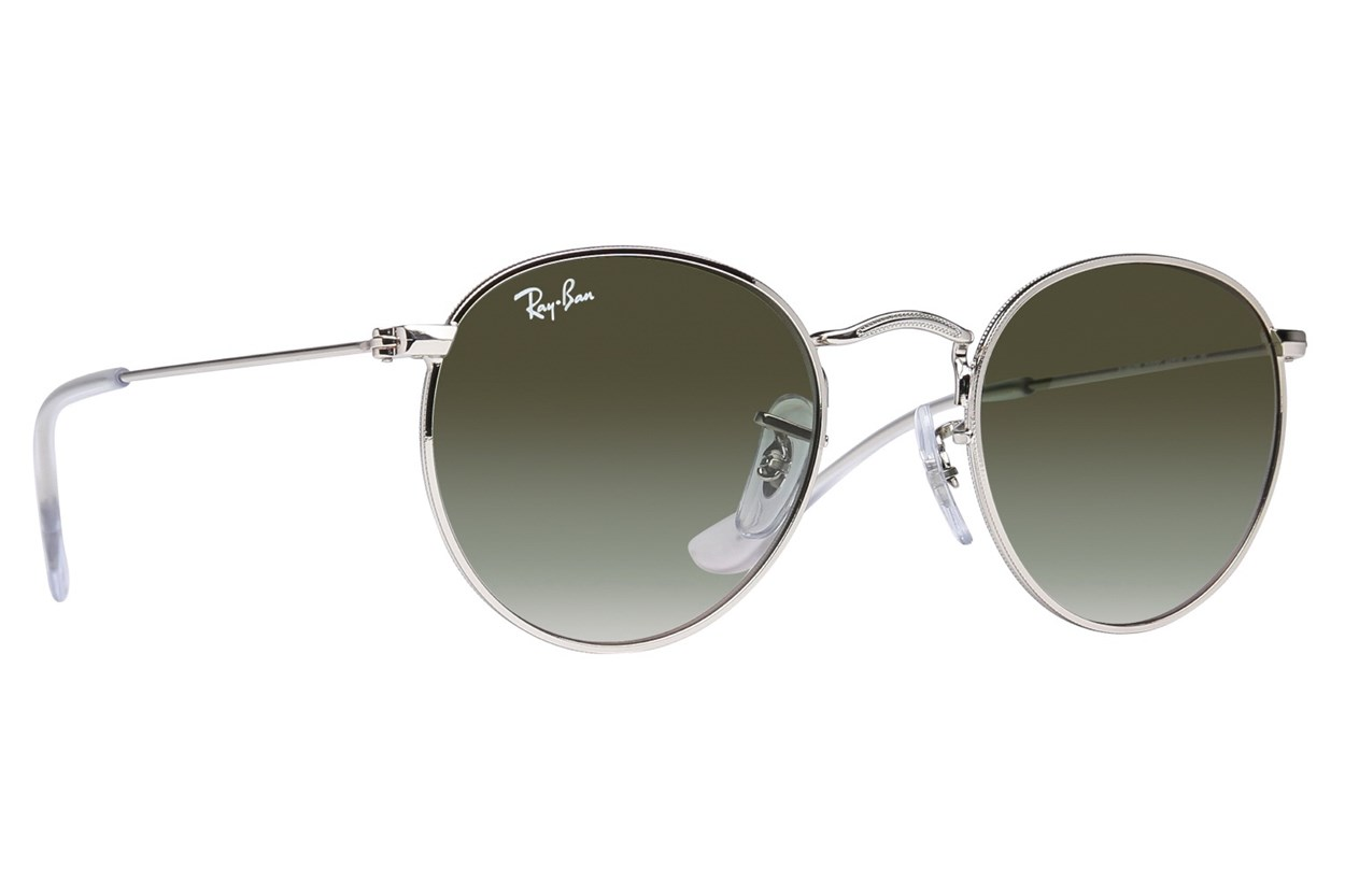 Ray-Ban® Youth RJ9547S Round Metal Junior Silver Sunglasses