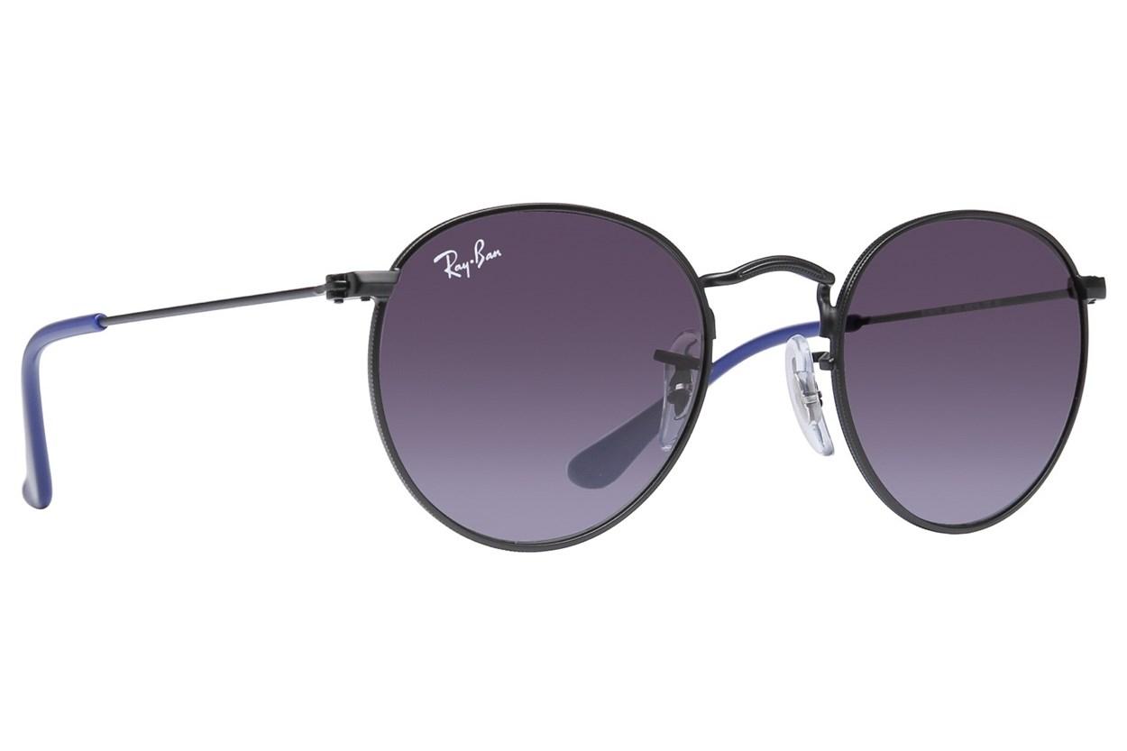 Ray-Ban® Youth RJ9547S Round Metal Junior Black Sunglasses