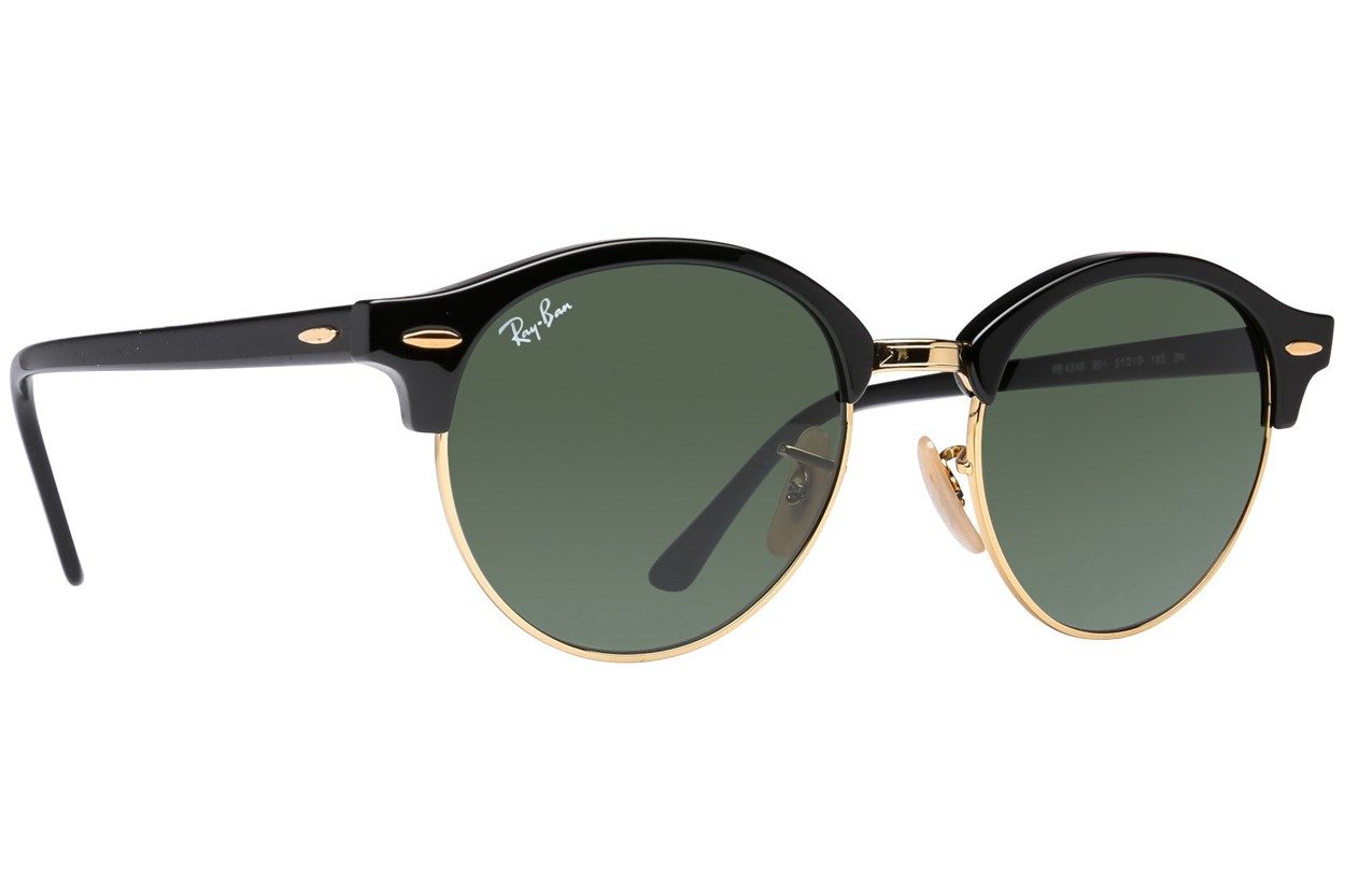 Ray-Ban® RB4246 Clubround Sunglasses - Black