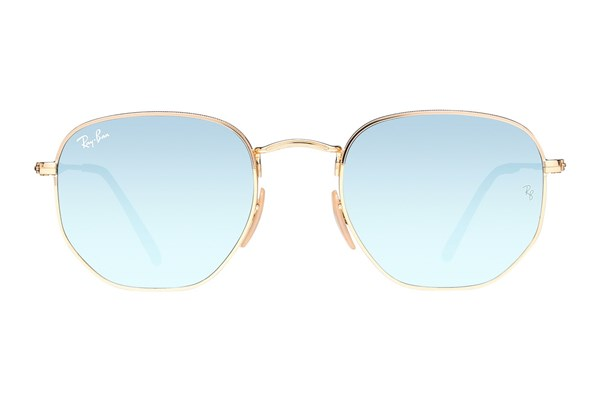 Ray-Ban® RB3548N Hexagonal Mirror Gold Sunglasses