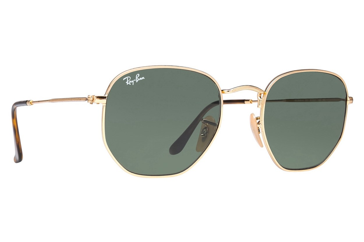Ray-Ban® RB3548N Hexagonal Gold Sunglasses