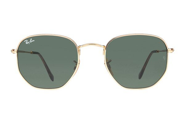Ray-Ban® RB3548N Hexagonal Sunglasses - Gold