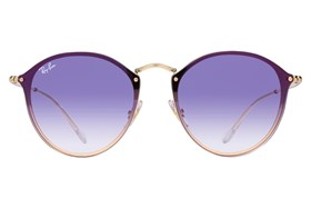 Ray-Ban� RB3574N Blaze Round Mirror Gold