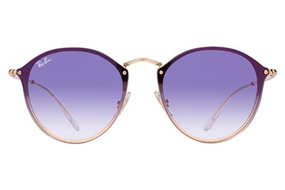 Ray-Ban® RB3574N Blaze Round Mirror Gold