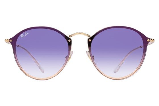 Ray-Ban® RB3574N Blaze Round Mirror Gold Sunglasses