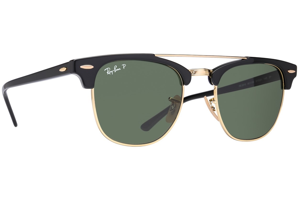 Ray-Ban® RB3816 Clubmaster Polarized Sunglasses - Black
