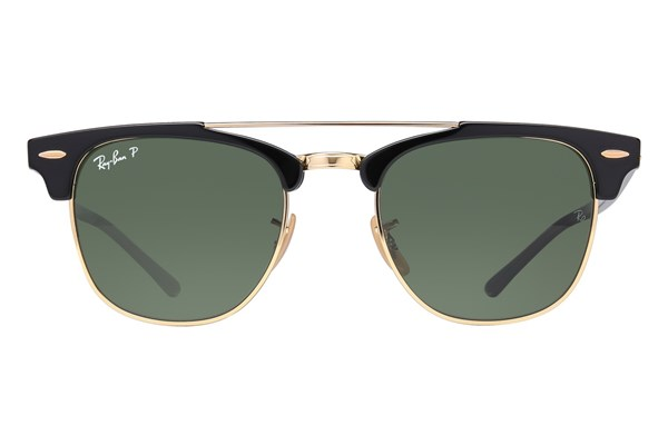 Ray-Ban® RB3816 Clubmaster Polarized Black Sunglasses