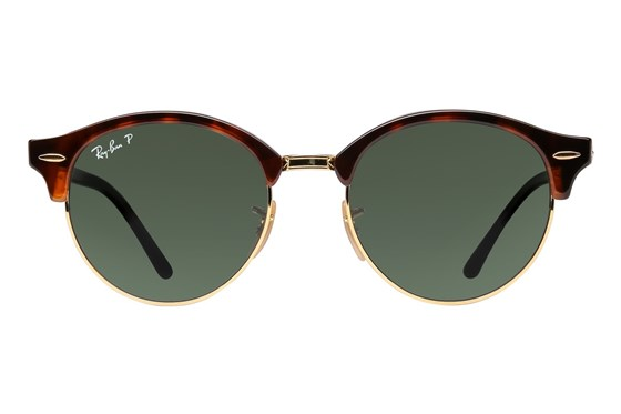 Ray-Ban® RB4246 Clubround Polarized Red Sunglasses