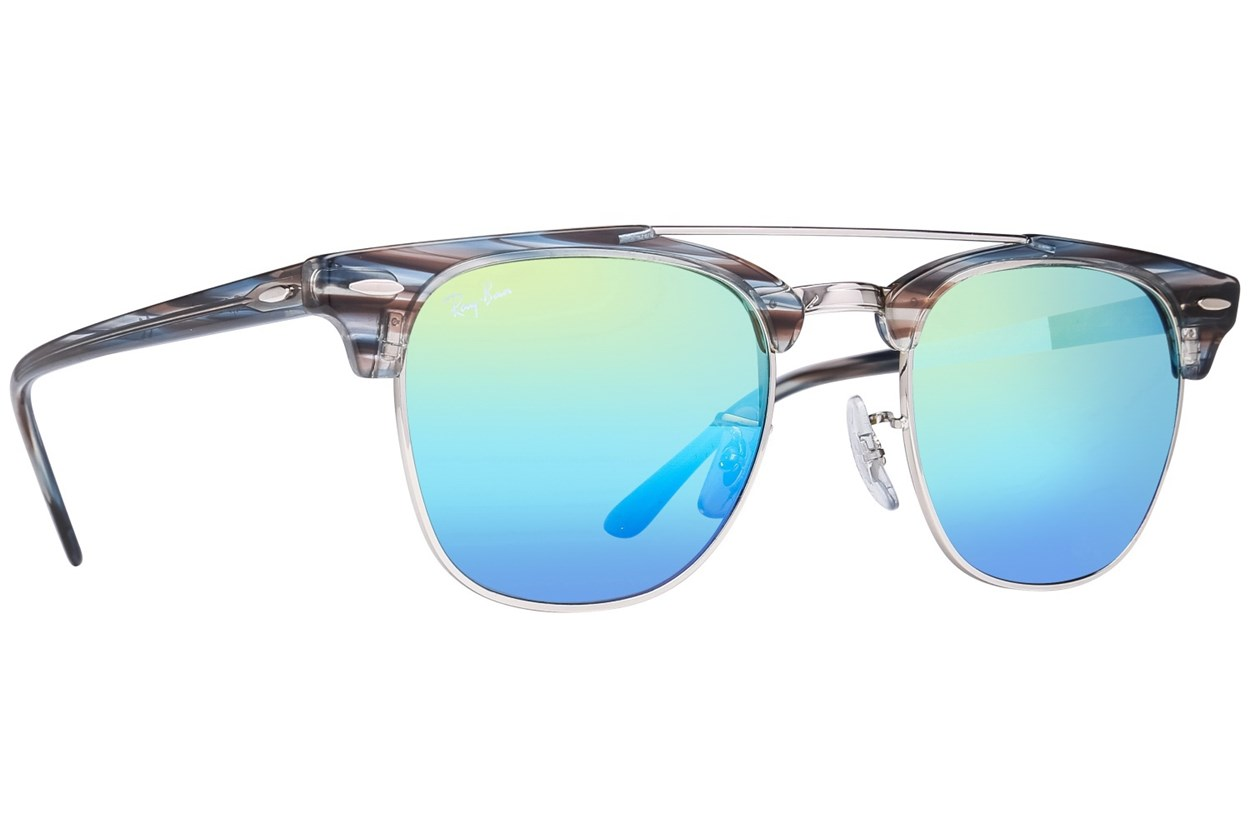 Ray-Ban® RB3816 Clubmaster Silver Sunglasses