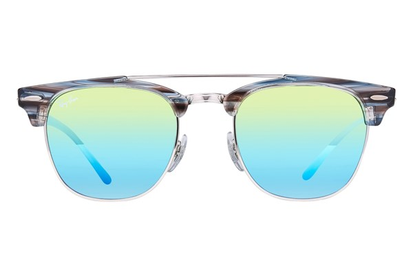 Ray-Ban® RB3816 Clubmaster Sunglasses - Silver