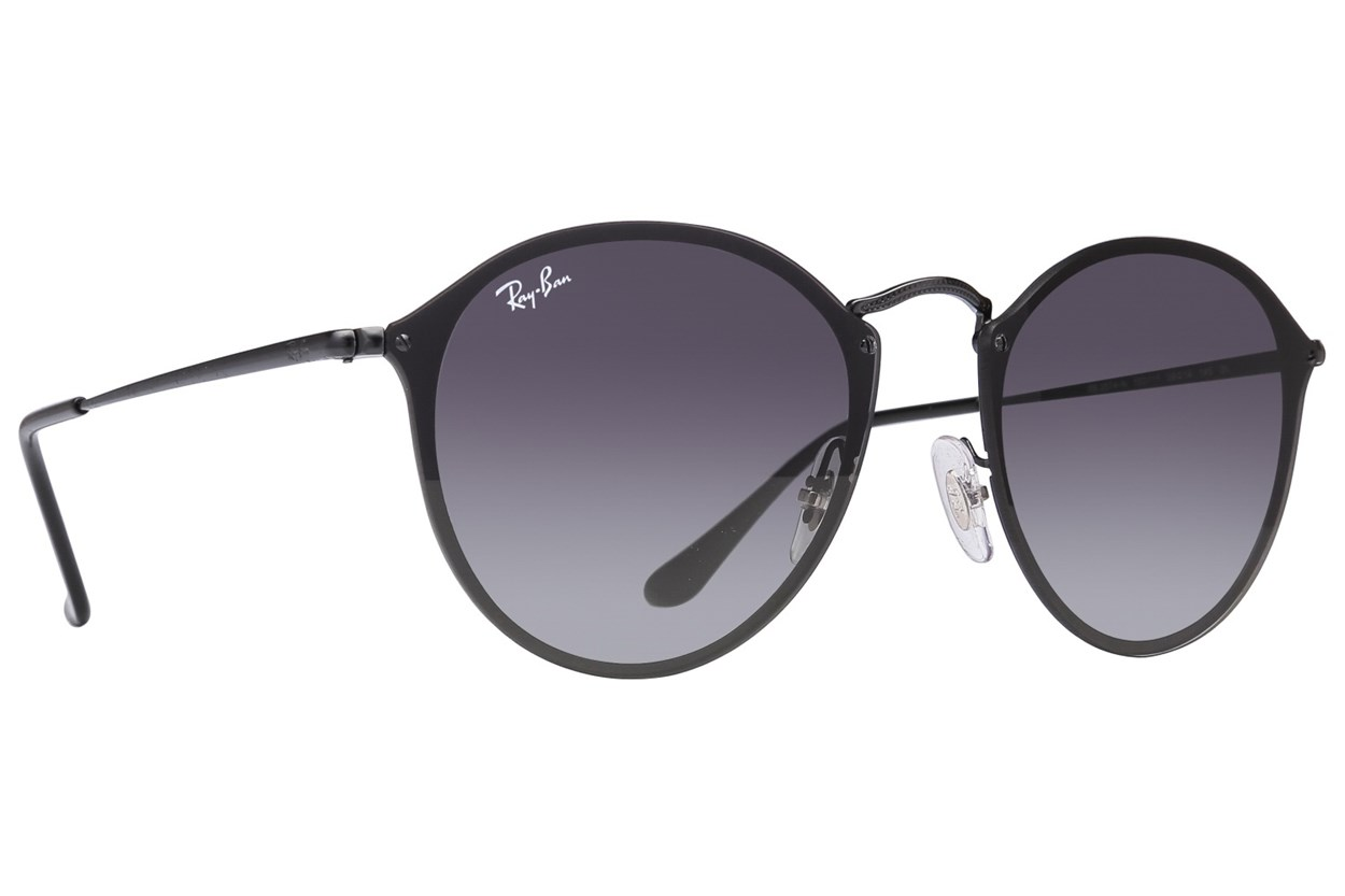 Ray-Ban® RB3574N Blaze Round Sunglasses - Black