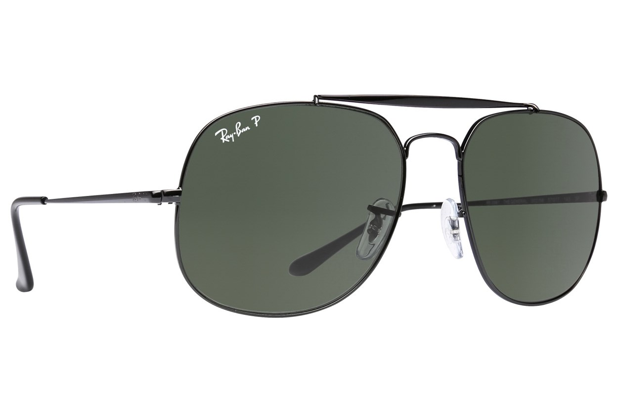 Ray-Ban® RB3561 General Polarized Black Sunglasses