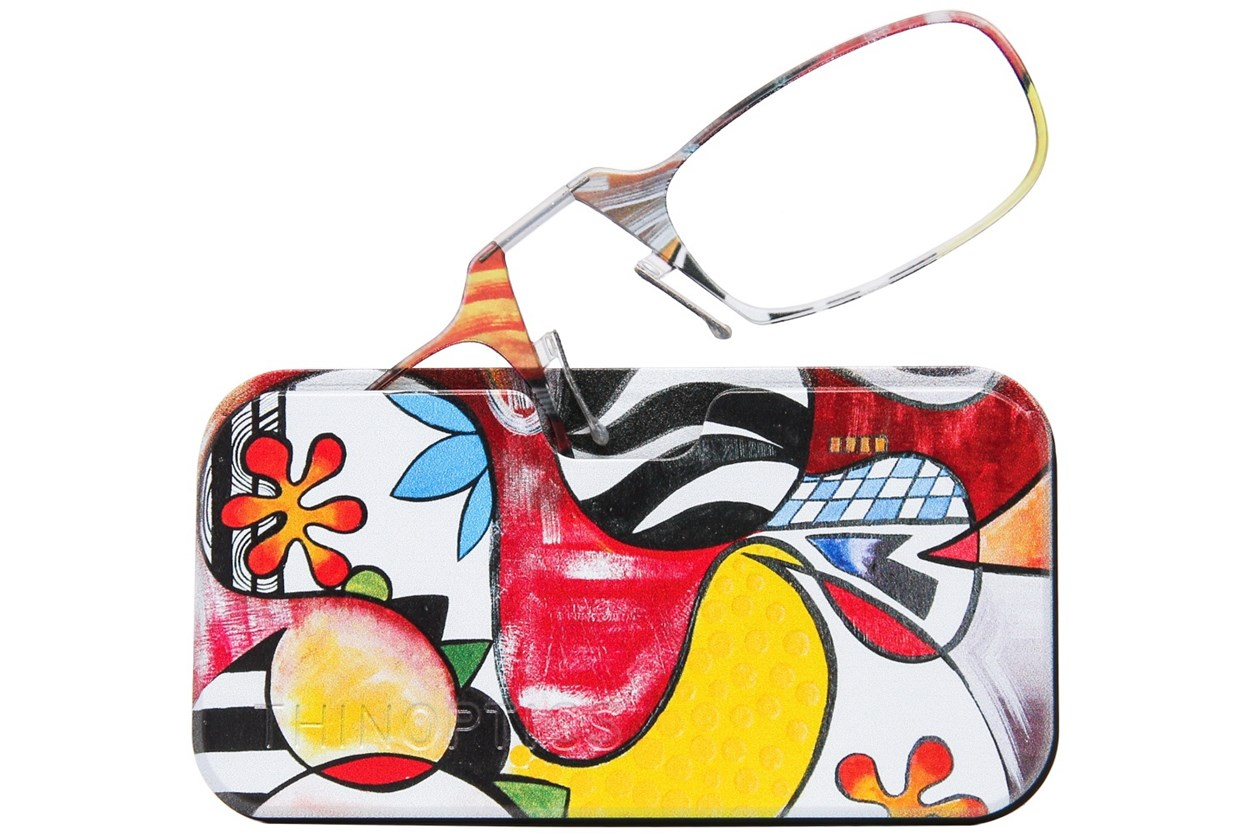 ThinOPTICS Reading Glasses with Universal Pod Case Bundle - Design Multi ReadingGlasses