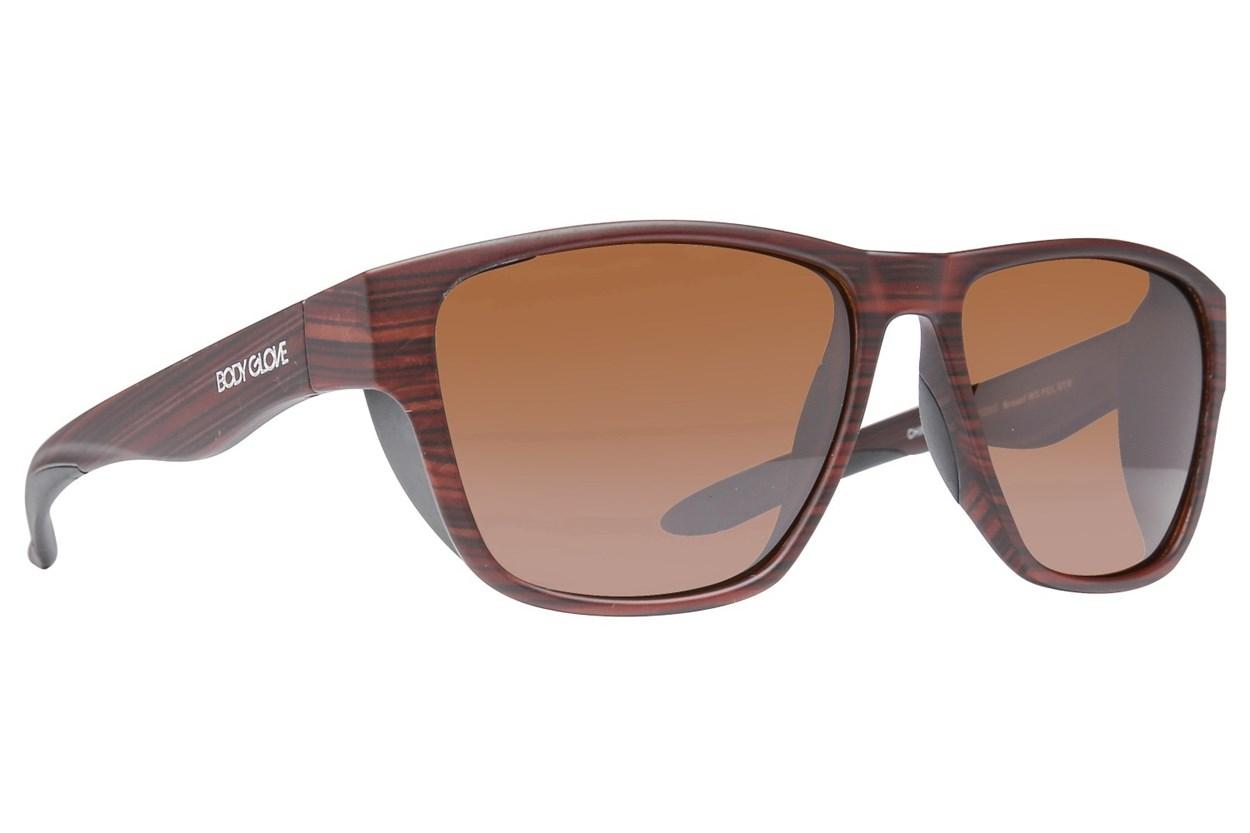 Body Glove Brosef Polarized Brown Sunglasses
