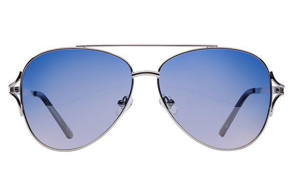 Angel ByeFelicia Polarized Silver Sunglasses