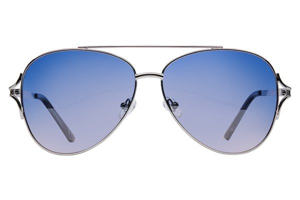 Angel ByeFelicia Polarized Sunglasses - Silver