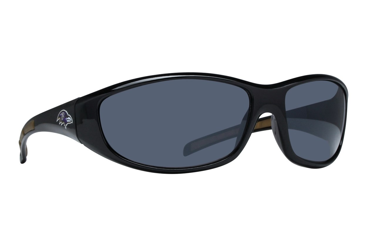 NFL Baltimore Ravens Wrap Sunglasses Black Sunglasses