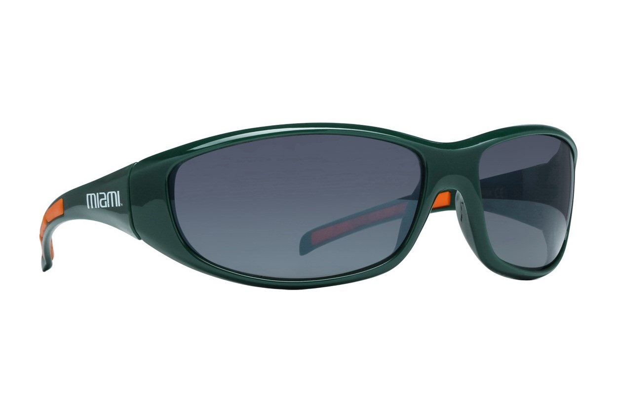 NCAA Miami Hurricanes Wrap Sunglasses Green Sunglasses