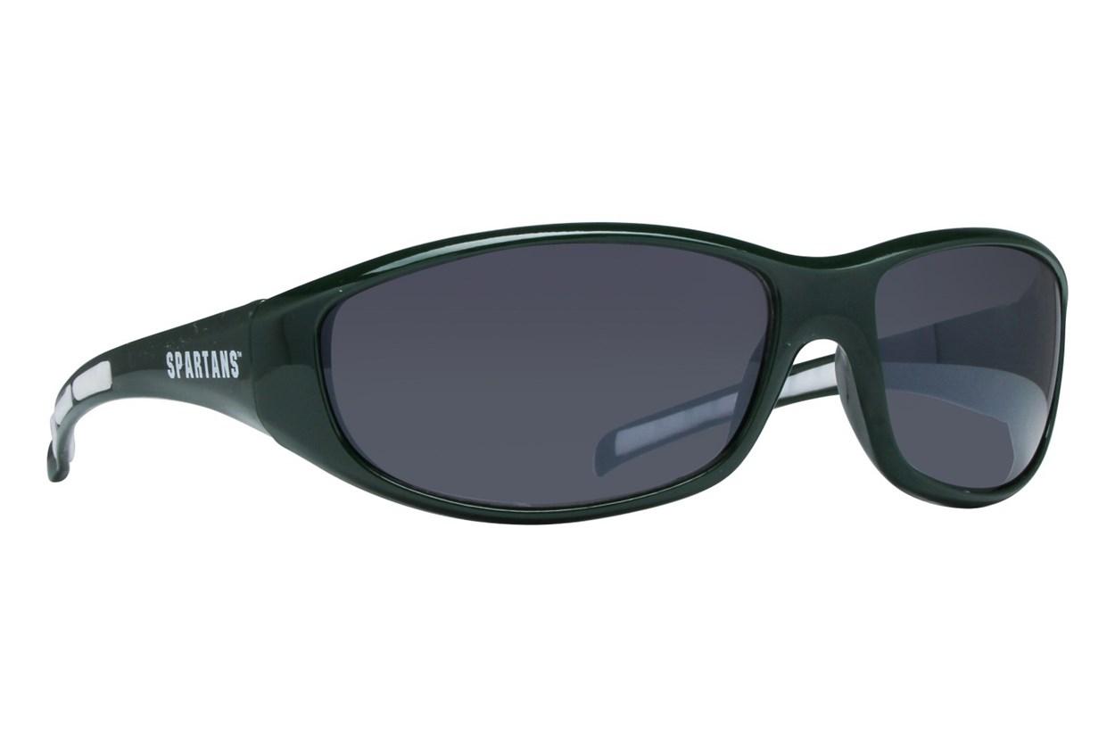 NCAA Michigan State Spartans Wrap Sunglasses Green Sunglasses