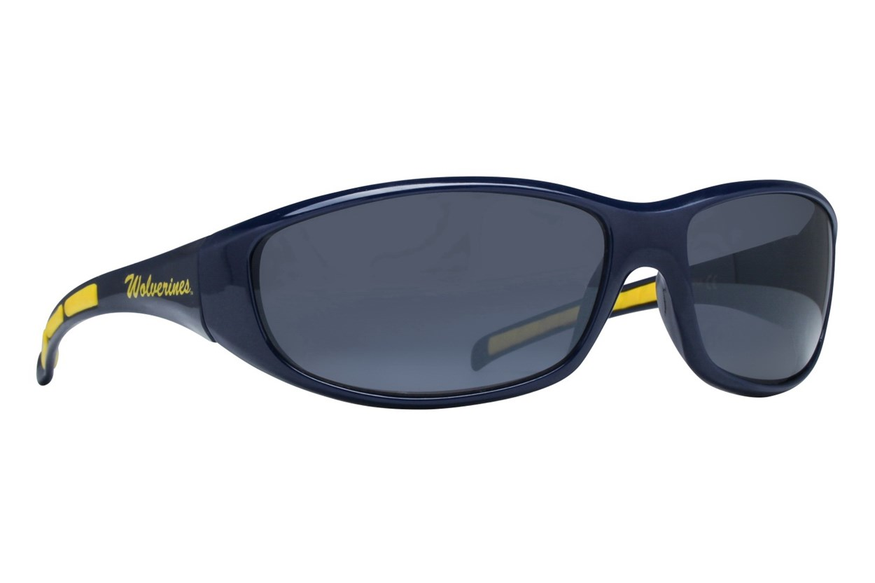 NCAA Michigan Wolverines Wrap Sunglasses Blue Sunglasses