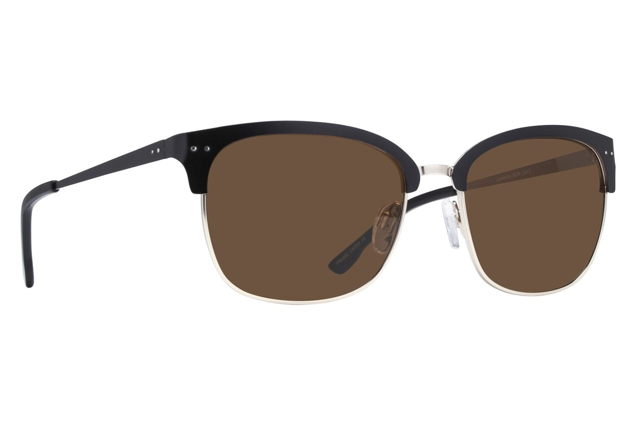 Lunettos Phoenix Black Sunglasses