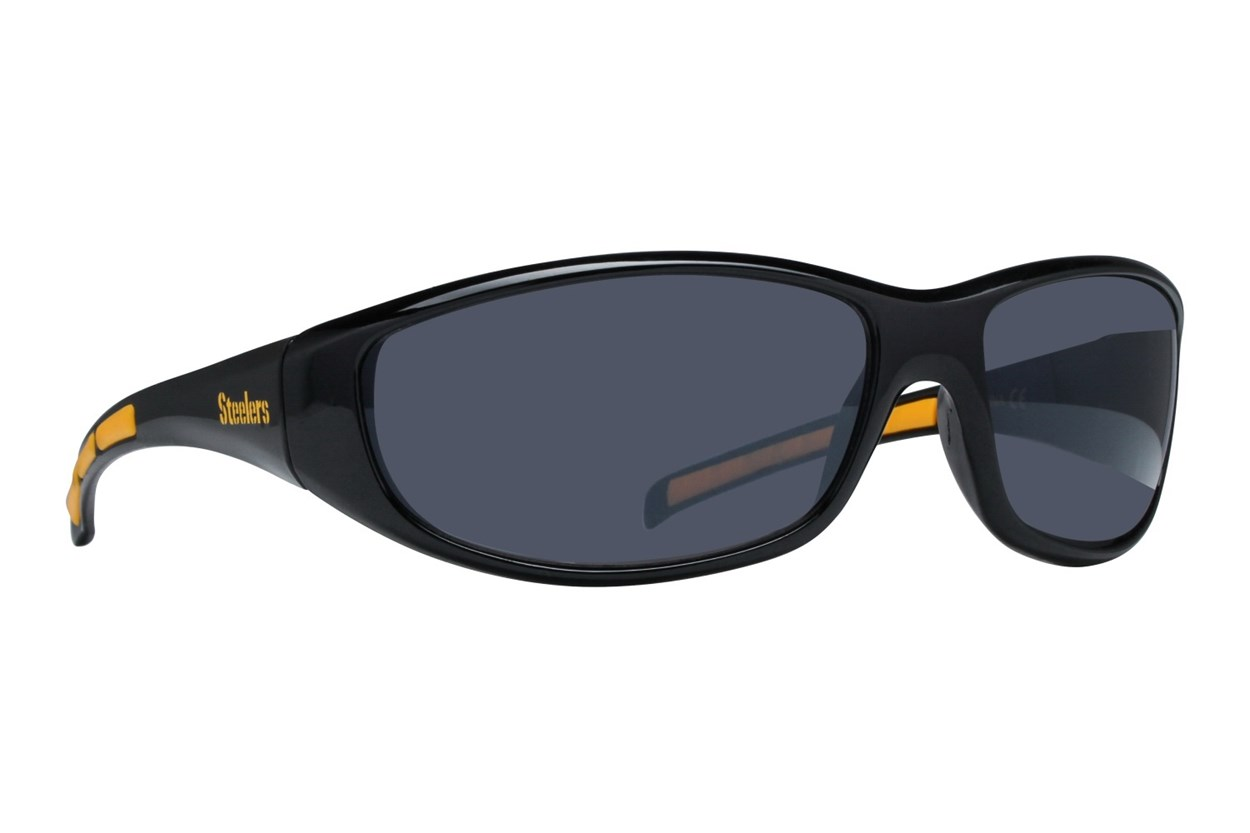 NFL Pittsburgh Steelers Wrap Sunglasses Sunglasses - Black