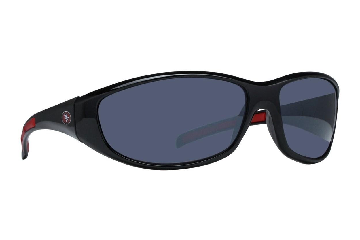 NFL San Francisco 49ers Wrap Sunglasses Black Sunglasses