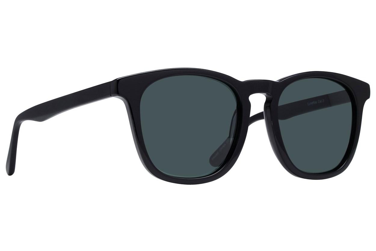 Lunettos Aldrin Black Sunglasses