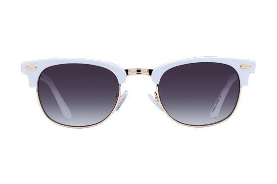 Lunettos Iris White Sunglasses