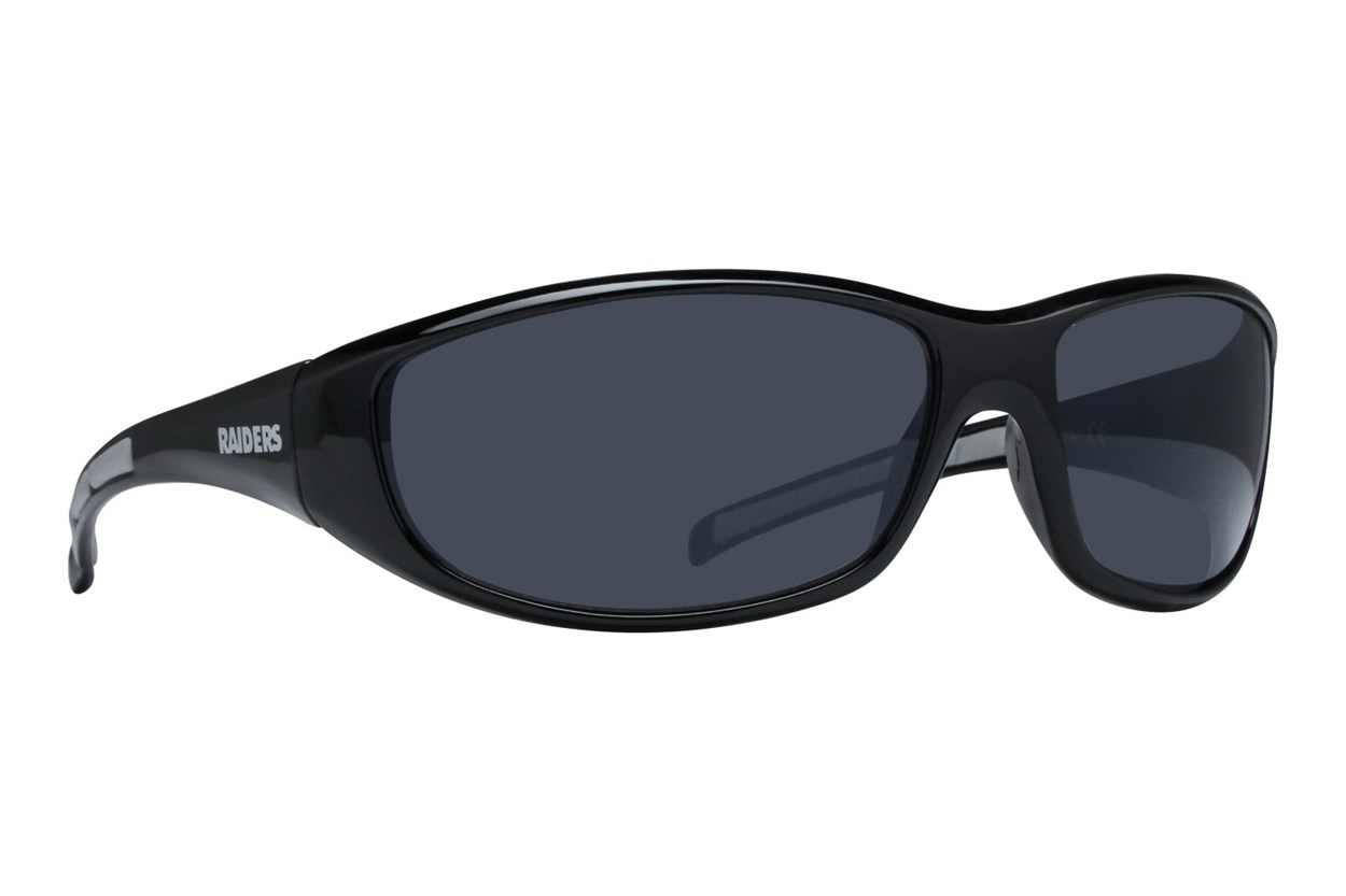 NFL Oakland Raiders Wrap Sunglasses Black Sunglasses