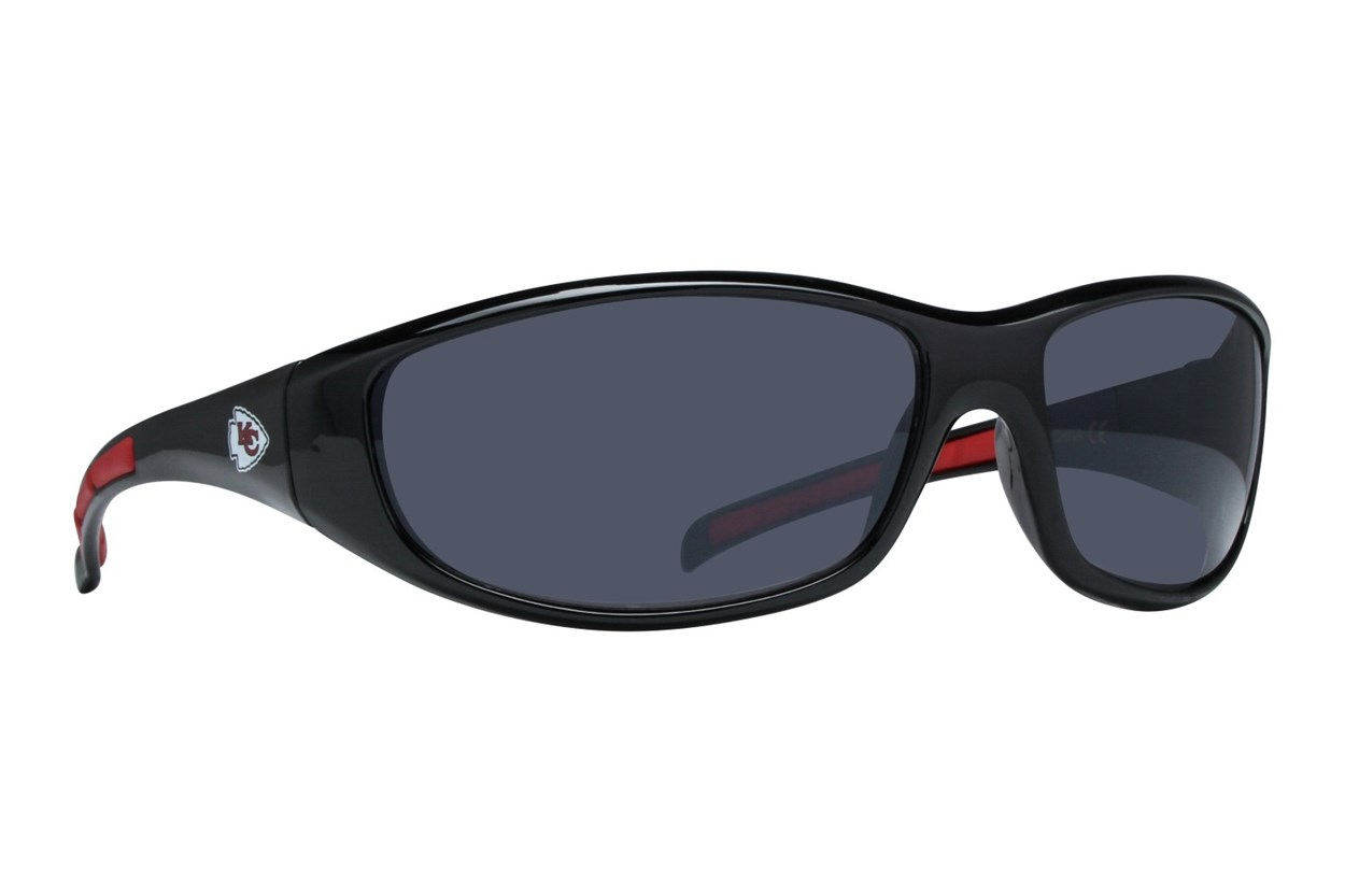 NFL Kansas City Chiefs Wrap Sunglasses Sunglasses - Black