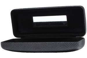 Click to swap image to alternate 1 - Evolutioneyes Textured Pebble Eyeglass Case 50 - Black