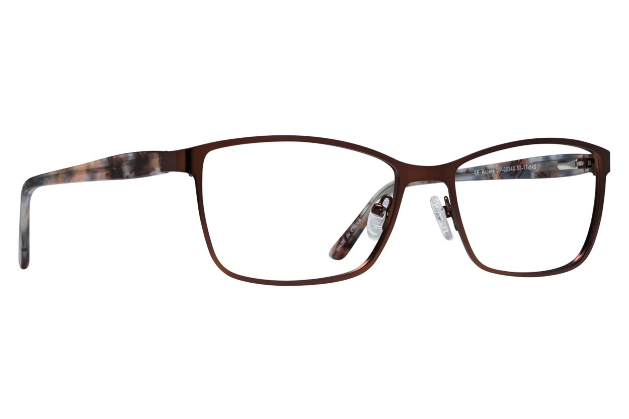 Dea Extended Size Accera Brown Eyeglasses