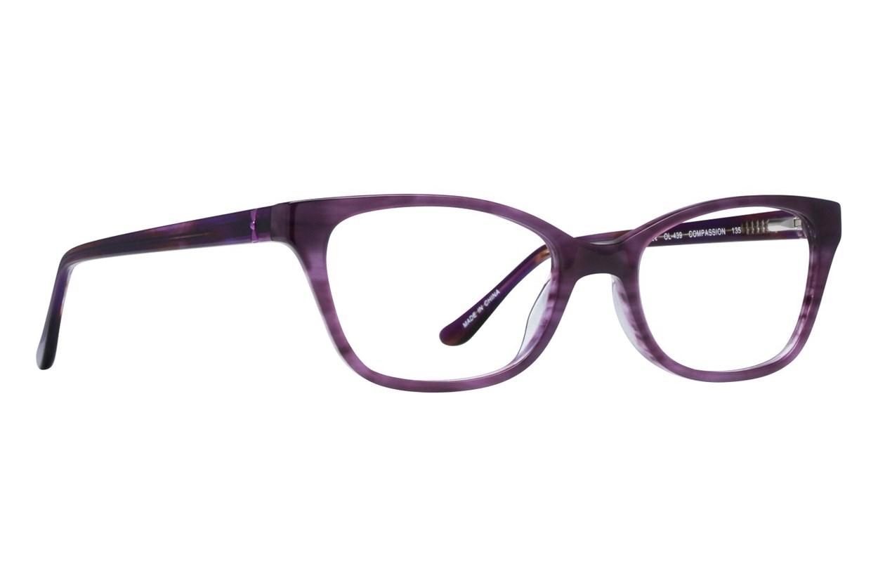 One Love Petite Compassion Purple Eyeglasses